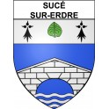 Stickers coat of arms Sucé-sur-Erdre adhesive sticker
