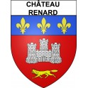 Stickers coat of arms Château-Renard adhesive sticker