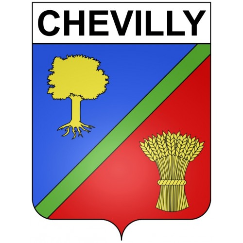 Stickers coat of arms Chevilly adhesive sticker