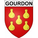 Gourdon 46 ville Stickers blason autocollant adhésif