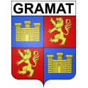 Stickers coat of arms Gramat adhesive sticker