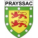 Stickers coat of arms Prayssac adhesive sticker