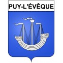 Stickers coat of arms Puy-l'Évêque adhesive sticker