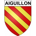 Stickers coat of arms Aiguillon adhesive sticker