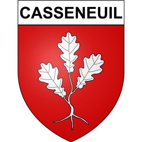 Stickers coat of arms Casseneuil adhesive sticker