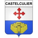 Stickers coat of arms Castelculier adhesive sticker