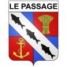 Le Passage 47 ville Stickers blason autocollant adhésif