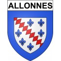 Stickers coat of arms Allonnes adhesive sticker