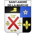 Stickers coat of arms Saint-André-de-la-Marche adhesive sticker