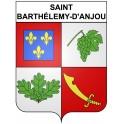 Stickers coat of arms Saint-Barthélemy-d'Anjou adhesive sticker