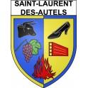 Stickers coat of arms Saint-Laurent-des-Autels adhesive sticker