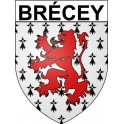 Stickers coat of arms Brécey adhesive sticker