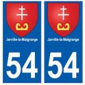 54 Jarville-la-Malgrange blason autocollant plaque stickers ville