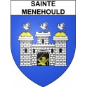 Stickers coat of arms Sainte-Menehould adhesive sticker