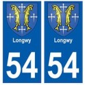 54 Longwy blason autocollant plaque stickers ville