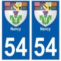 54 Nancy blason autocollant plaque stickers ville