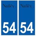 54 Nancy logo autocollant plaque stickers ville