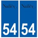 54 Nancy logo autocollant plaque stickers ville