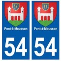54 Pont-à-Mousson blason autocollant plaque stickers ville