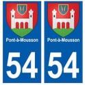 54 Pont-à-Mousson blason autocollant plaque stickers ville
