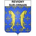 Revigny-sur-Ornain 55 ville Stickers blason autocollant adhésif
