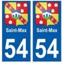 54 Saint-Max blason autocollant plaque stickers ville