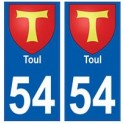 54 Toul blason autocollant plaque stickers ville