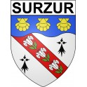 Stickers coat of arms Surzur adhesive sticker