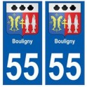 55 Bouligny blason autocollant plaque stickers ville