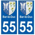 55 Bar-le-Duc blason autocollant plaque stickers ville