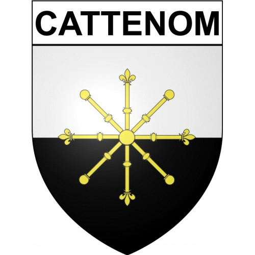Stickers coat of arms Cattenom adhesive sticker