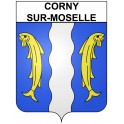 Stickers coat of arms Corny-sur-Moselle adhesive sticker