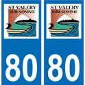 80 Saint Valerie sur somme autocollant plaque immatriculation auto ville sticker