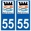 55 Bar-le-Duc logo autocollant plaque stickers ville
