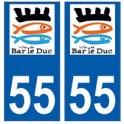 55 Bar-le-Duc logo autocollant plaque stickers ville