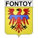 Fontoy 57 ville Stickers blason autocollant adhésif