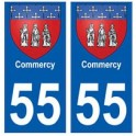 55 Commercy blason autocollant plaque stickers ville