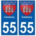 55 Commercy blason autocollant plaque stickers ville