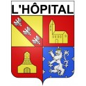 Stickers coat of arms L'Hôpital adhesive sticker