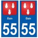 55 Etain blason autocollant plaque stickers ville