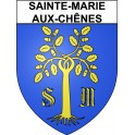 Stickers coat of arms Sainte-Marie-aux-Chênes adhesive sticker