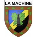 Stickers coat of arms La Machine adhesive sticker