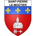 Stickers coat of arms Saint-Pierre-le-Moûtier adhesive sticker