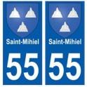 55 Saint-Mihiel blason autocollant plaque stickers ville
