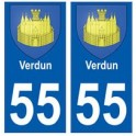 55 Verdun blason autocollant plaque stickers ville