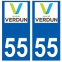 55 Verdun logo autocollant plaque stickers ville