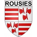 Stickers coat of arms Rousies adhesive sticker