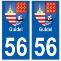 56 Guidel blason autocollant plaque stickers ville
