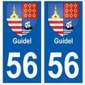56 Guidel blason autocollant plaque stickers ville