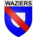 Stickers coat of arms Waziers adhesive sticker